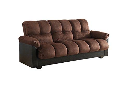 Futon Sofa Bed with Storage Amazoncom