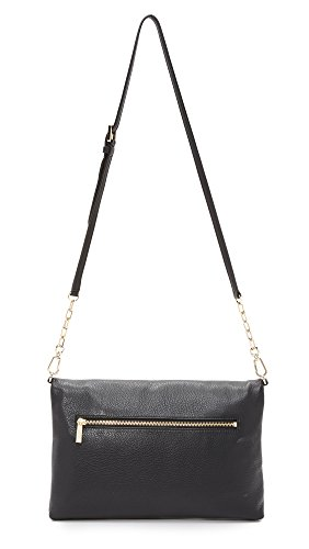Tory Burch Bombe Fold-Over Clutch Bag Black by Tory Burch (Image #1)