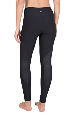 90 Degree By Reflex - High Waist Cire Leggings with Pockets - Yoga Pants for Women - Black Small