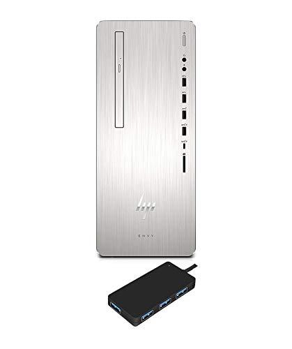 HP Envy 795qd Premium Desktop Workstation PC (Intel 8th Gen Coffee Lake i7-8700 6-core, 32GB RAM, 1TB HDD + 256GB SSD, WiFi, Bluetooth, DVD-Writer, Win 10 Pro)