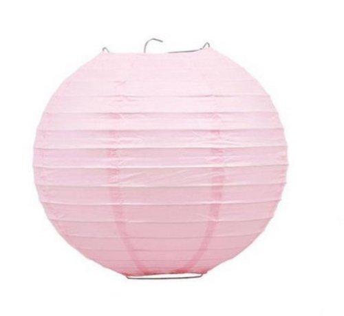 12-PCS-Pink-ChineseJapanese-Paper-LanternLamp-12-Diameter-Just-Liroyal-Brand