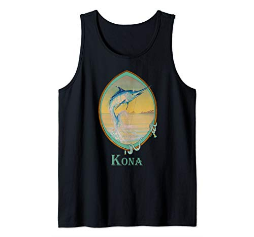 - Kona, Hawaii Blue Marlin Fisherman's Vacation Trip Tank Top
