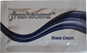 New World Imports PKSC Freshscent Shave Cream, 0.25 oz. Packet (Pack of 1000) by New World Imports