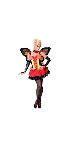 French Madame Sexy Costumes (Paper Magic Womens French Kiss Madame Monarch Costume, Pink/Black, Small)