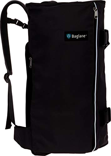 BagLane Hybrid Commuter Backpack Garment Bag - Travel Carry On Suit Bag (Black)