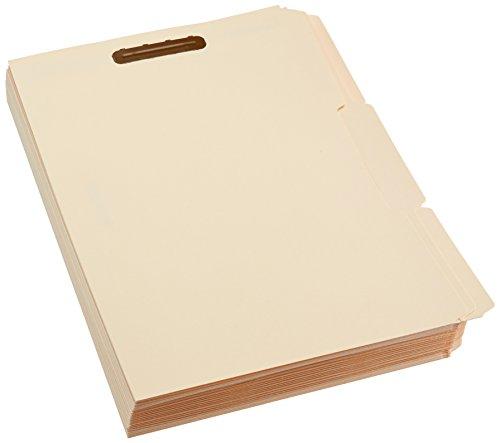 AmazonBasics Manila File Folders with Fasteners - Letter Size, 100-Pack by AmazonBasics (Image #4)