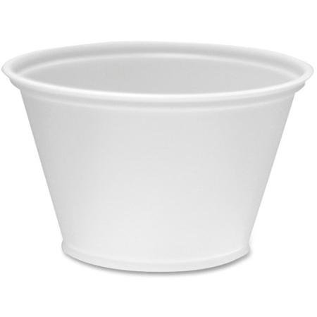 Gordon Food Service 200PC 1 oz Plastic Souffle Portion Cup, Translucent, 200/Pack