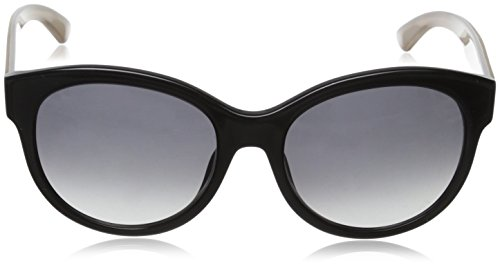 Escada - Lunette de soleil SES350 Ronde  - Femme Shiny black frame / smoke gradient lens
