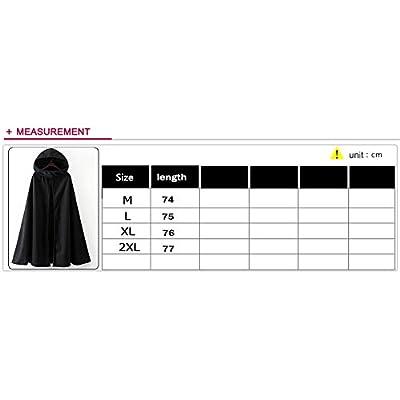 Fantasy Closet Women's Hooded Cape Mid-Length Split Front Cloak: Clothing