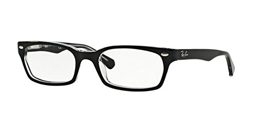Ray-Ban Women's RX5150 Eyeglasses Top Black On Transparent ()