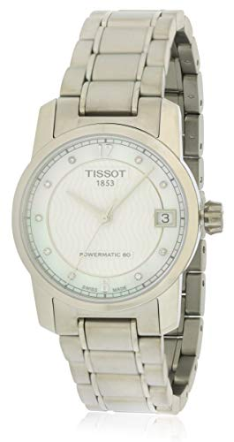 (Tissot T-Classic Automatic Mother of Pearl Dial Titanium Ladies Watch T0872074411600)