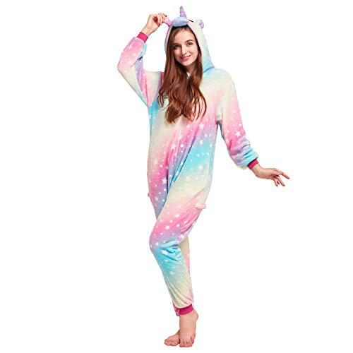 NOUSION Licorne Unisex Adult Pajamas, Cosplay Christmas Unicorn