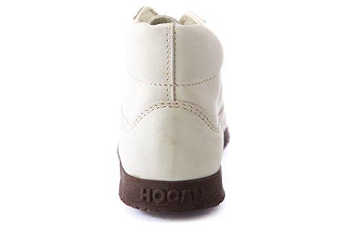 Hogan Från Tods Kvinna Polacco Traditionella Mitten Snörskor Off-white