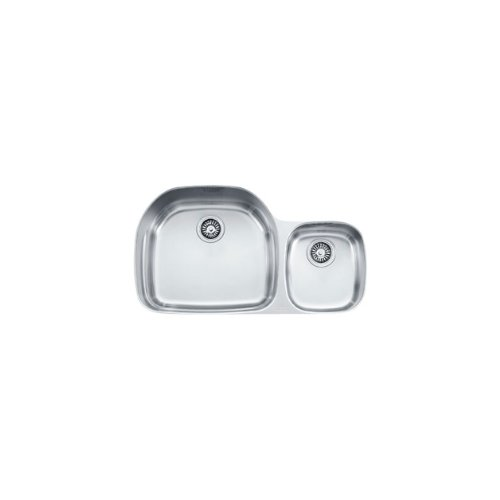 Franke PRX120 Prestige Plus 36-Inch Offset to the Right Double Bowl Undermount Kitchen Sink