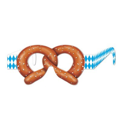 Pretzel Eyeglasses Party Accessory (12 Units Per Pack) [3-Pack]