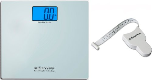 BalanceFrom High Accuracy Digital Bathroom Scale with Large Backlight Display and''Step-On'' Technology [Newest Version] (Silver) by BalanceFrom (Image #3)