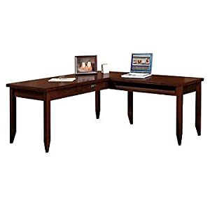 Attractive Tribeca Loft Cherry L Shaped Table Desk   Reversible