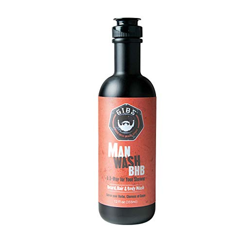 (GIBS Grooming 3 in 1 Body Wash for Men - Beard & Hair Moisturizing, & Cleansing Liquid Body Wash with Tea Tree Oil & Copaiba Balsam - Sulfate & Paraben Free Shower Gel - 12 Oz )