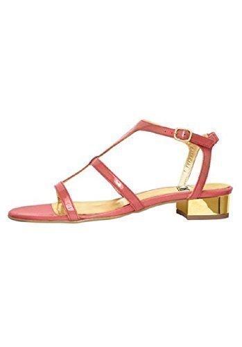 Best Connections Sandalette - Sandalias de vestir de Piel para mujer Coral