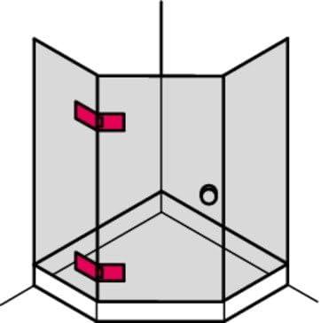 Gedotec Bisagra de la Ducha Venda Puerta Vidrio Hardware Cristal ...