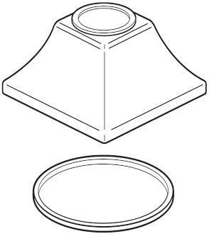 Delta Faucet RP53412CZ Dryden Hand shower Handle Base and Gasket, Champagne Bronze Dryden Handle Base