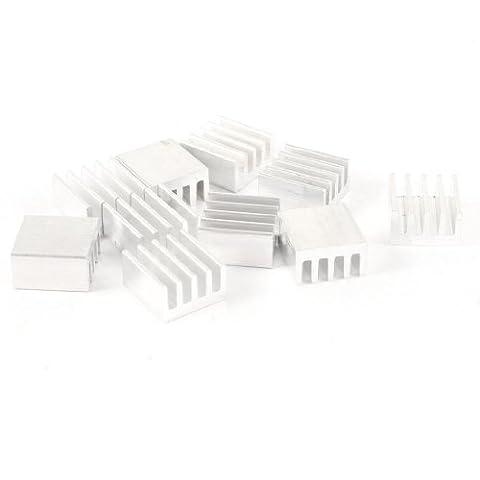 uxcell 10 Pcs 9mm x 9mm x 5mm Aluminum Heatsink for Power Transistor FET - Potenza Fet