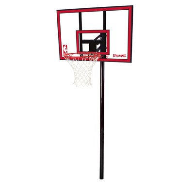 "Spalding NBA In-Ground Basketball System - 44"" Polycarbonate Backboard"