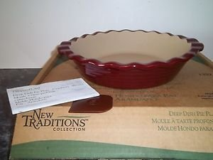 P&ered Chef Stoneware Deep Dish Pie Plate & Amazon.com: Pampered Chef Stoneware Deep Dish Pie Plate: Baking ...