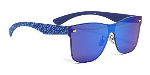 TIJN Futuristic Outfit Oversized Square Mirrored Shield Sunglasses - Sale For Futuristic Sunglasses