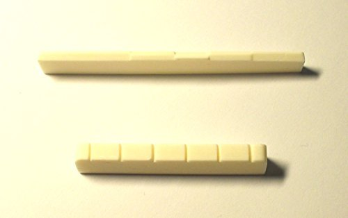Generic Bone Classical Guitar Nuts 52 x 6 x 9.2-8.7 mm Saddles 80 x 3 x 9.0-8.0 mm