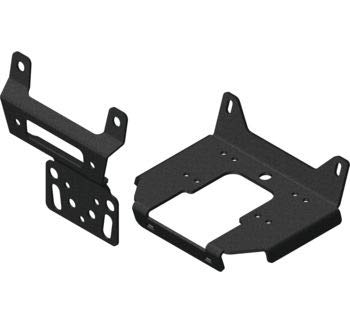 KFI Products Black Wide Winch Mount Polaris 2019 RZR 1000/TURBO Models 101705