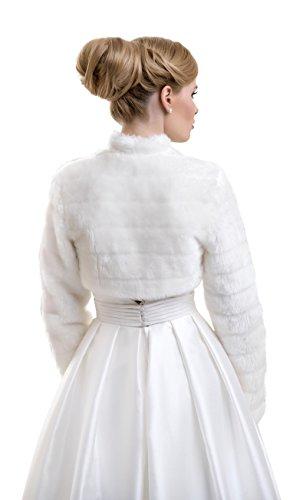 Pelliccia Lunghe Giacca Sintetica Maiche Bell Bianco Matrimonio Lacey Donna 27 Ffj Coprispalle Cnf8q6wSx5