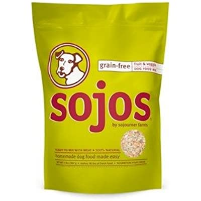 SOJOS Grain-Free Ready-to-Mix Dog Food - Fruit & Veggie 2 lb.