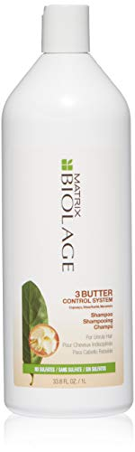 BIOLAGE 3Butter Control System Shampoo For Unruly Hair, Sulfate Free, 33.8 Fl. Oz.