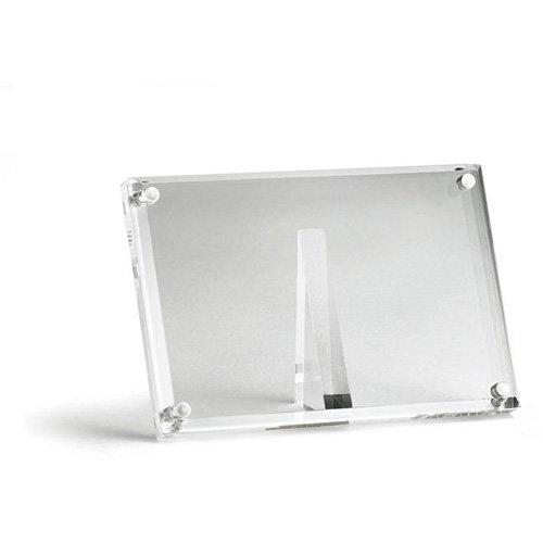 Tablecraft 4'' Rectangular Acrylic Magnetic Card / Sign Holder