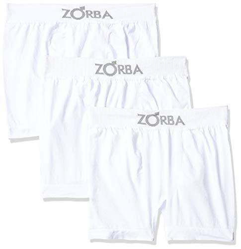 Kit 6 Cuecas Boxer Sem Costura, Zorba, Masculino, Branco, GG