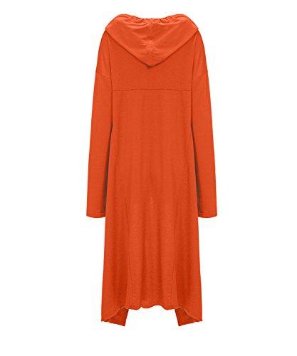 Moon Donna Angle Orange Con Felpa Cappuccio nFwO1WFAq