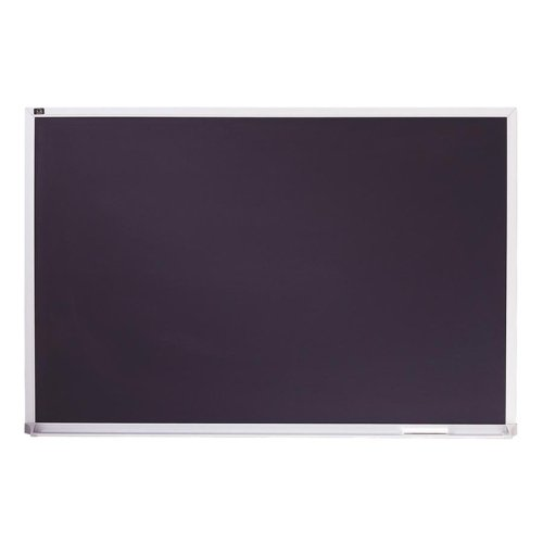Porcelain Black Chalkboard w/Aluminum Frame, 72'' x 48'', Silver
