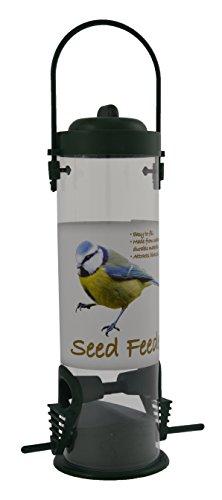 Green Jem Plastic Seed Wild Bird Feeder, Green, 13x7.5x24