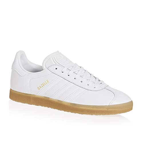 adidas Mens Gazelle Leather Cloud White Gum Trainers 5.5 US ()