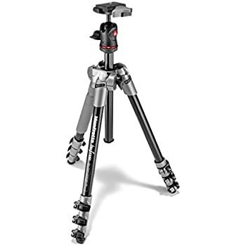 Manfrotto MKBFRA4D-BH BeFree Compact Aluminum Travel Tripod (Grey)