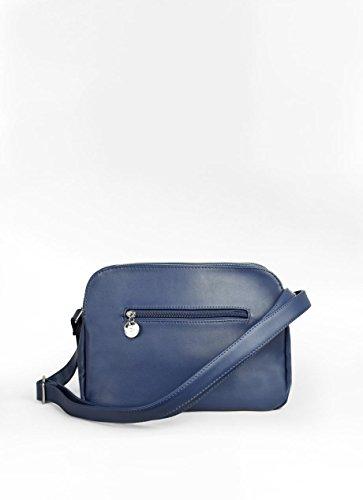 Blu Con Bandolera Interni Compartimentos Scomparti Interiores Bosanova Sacchetto Azul x8z5wnzOA