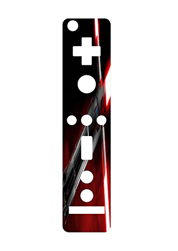 Red Blade Wiimote Wii Controller Vinyl Decal Sticker Skin by Demon Decal (Wii Demon Blade Games)