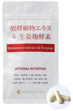 醗酵植物エキス&生姜麹酵素 60カプセル入り×6袋(約180日分 2,190円おトク) B078NPX6QK