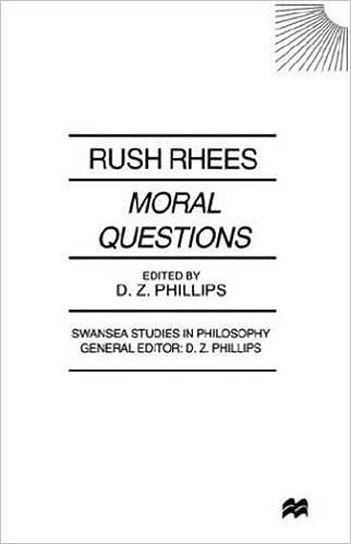 Moral Questions (Swansea Studies in Philosophy) by R. Rhees (1999-08-12)