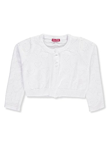 Faith Kids Sweatshirt - Princess Faith Little Girls' Toddler Shrug - White, 2t