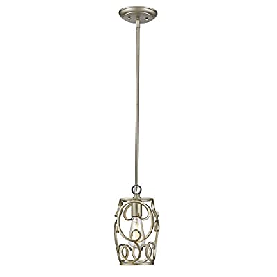 Golden Lighting 4616-M1L WG Colette - One Light Mini Pendant, White Gold Finish with Smooth Modern Crystal