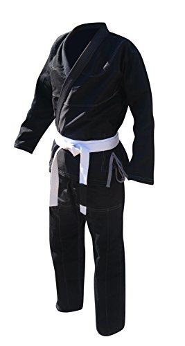 Your Jiu Jitsu Gear Brazilian Jiu Jitsu Uniform Black A3 with contrast