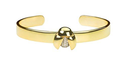 Maha lozi (Bracelet jonc en argent sterling avec Plaqué Or Jaune 18Carats Me Lady