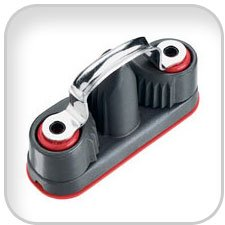 Harken Ball Bearing Cam-Matic Cleats, double cam-matic cleat (7/16inrope)